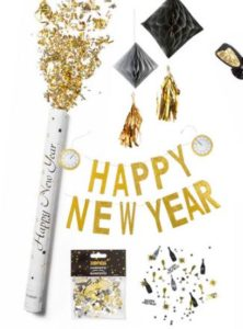 Cadeautip happy new year slingers en confetti pakket